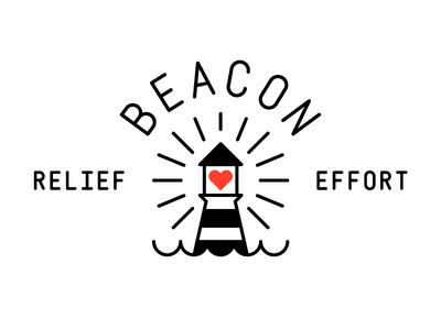 Beacon charity lighthouse heart fire earthquake hurricane crisis relief effort beacon