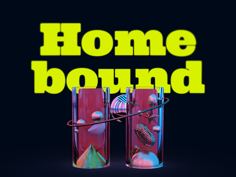 36 Days of Type- H(omebound) quarantine homebound 3d art adobe dimension 36days dimension adobe student adobe 3d 36dayoftype illustration design