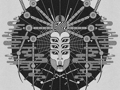 Jorogumo (cropped) vector illustration design art