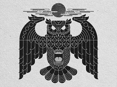 hOWL geometric art graphic design illustration design art
