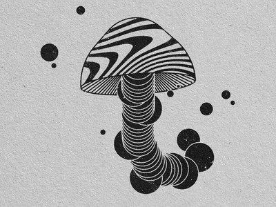 SHROOM geometric art graphic design illustration design art