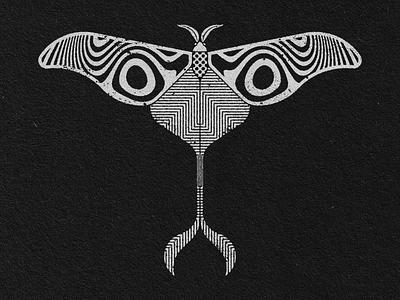 MOTH 2 geometric art graphic design illustration design art