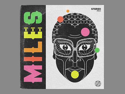MILES typography branding logo geometric art graphic design illustration design art