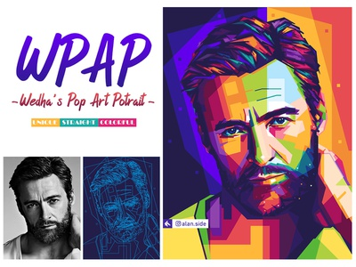 WPAP ( Wedha's Pop Art Potrait) portrait illustration vector digitalart wpap unique popart colorful artwork art poster portrait branding design illustration