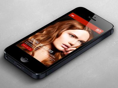 RED Mobile Phone mobile responsive web design web development mobile phone