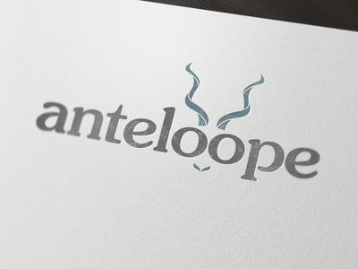 Anteloope Optical logo concept logo grunge animal distressed
