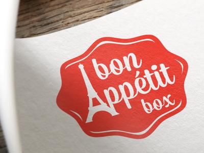 Bon Appétit Box logo logo design red french branding
