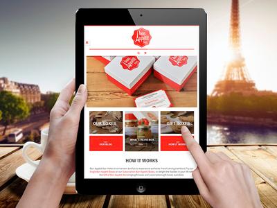 Bon Appétit Box Website web design ui ux wordpress woocommerce red french branding