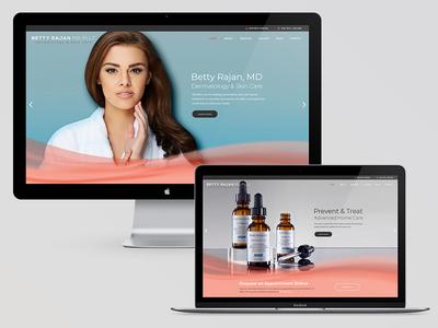 Betty Rajan, MD, Dermatology & Skincare website skinceuticals medical beauty health wordpress web design skin care skincare dermatology