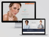 Pure Dermatology website comps