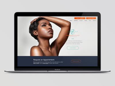 Pure Dermatology website comps pure dermatology skin care medical health beauty skincare dermatology