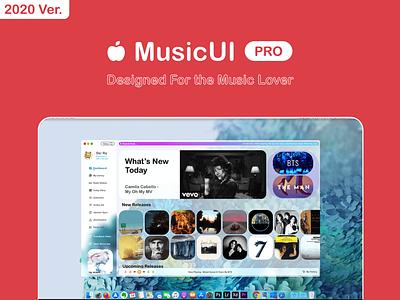MusicUI Pro - Designed for the music lover design ux ui lover music product design pro