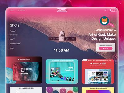 dribbble WebUI re:Design webdesign web concept ux ui branding hello 2020 dribbble website design design figmadesign website