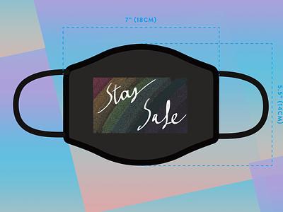 """""""SAFE MASK"""" - Design For Good Face Mask Challenge print shot invite 2020 design playoff dribbble"""