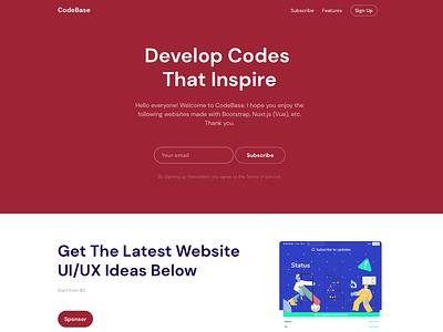 CodeBase -Develop Codes That Inspire animation ux ui branding website shot invite 2020 dribbble design
