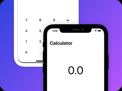 Zero. Calculator ui app swiftui ios branding hello shot 2020 invite dribbble design calculator app maths calculator
