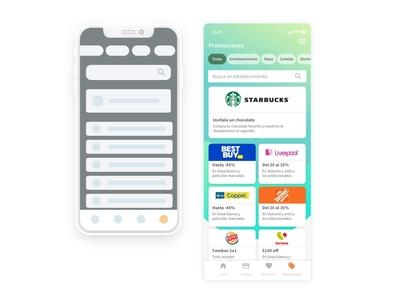 De wireframe a diseño de interfaz search tags board cards ui promo mobile app app mobile ui mobile interface design uxui ux