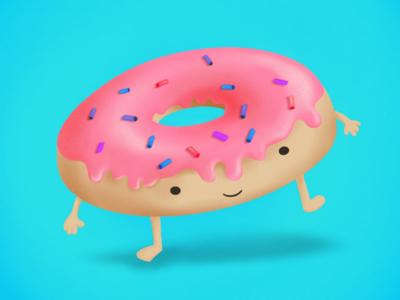 Mr. Donni hamburger cofee digital art digital apple pencil procreate illustration cute kawaii donut