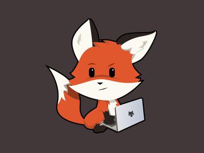 Developer Fox vectors illustration fox developer
