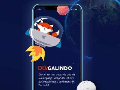 Responsive site Devgalindo web  design space foxes mobile responsive design illustration ui