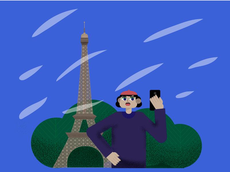 à Paris vector art web illustrator design illustration