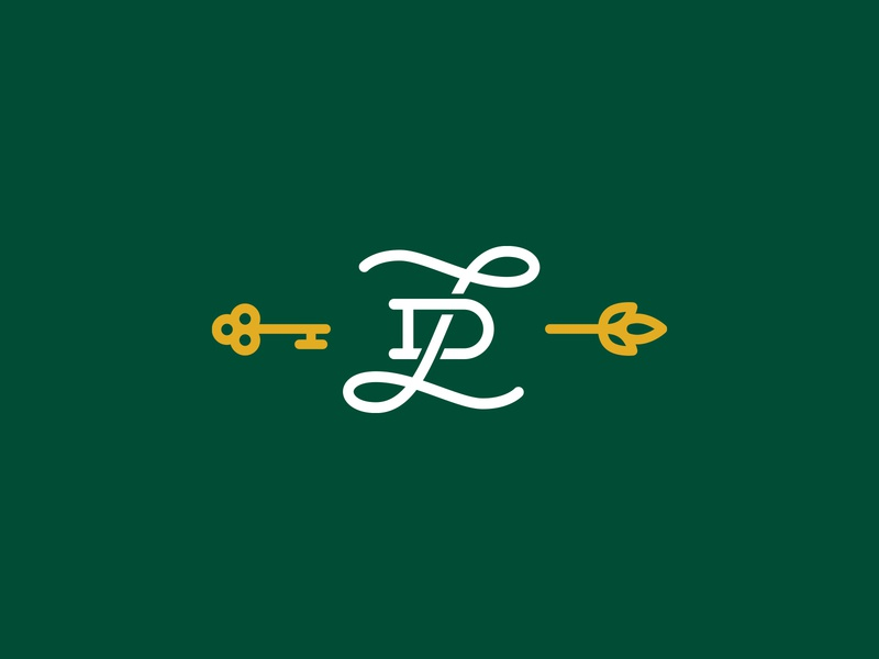 LD Monogram concierge home garden leaf key thick lines monoline branding brand logo monogram logo monogram