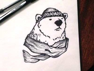 Winter Bear Illustration