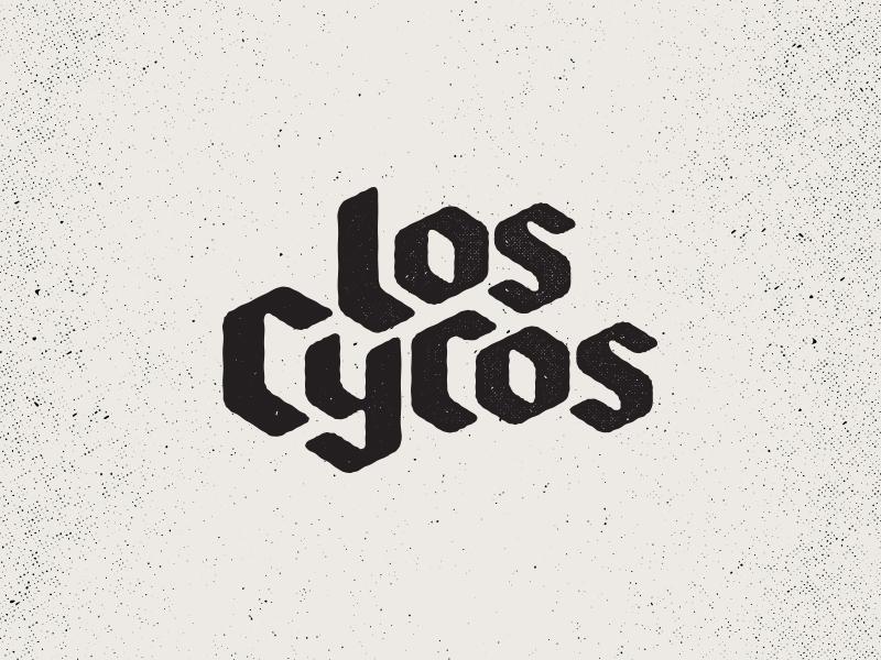 Los Cycos psycho gothic blackletter letter black custom lettering hand script branding logo