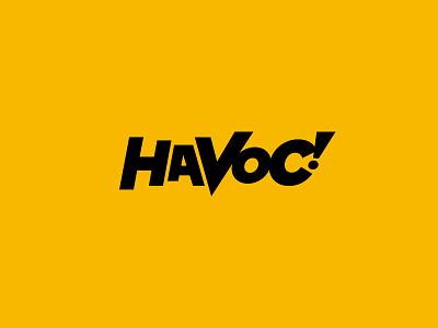 HAVOC! Logo identity branding logo lettering shaka basketball rva richmond vcu havoc