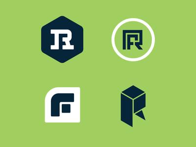 Right Fit Storage monogram box storage f r logomark icon branding identity logo