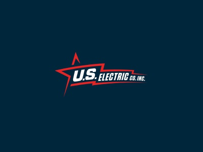 U.S. Electric Logo Redesign america u.s. power patriotic flag bolt star electric logomark branding identity logo