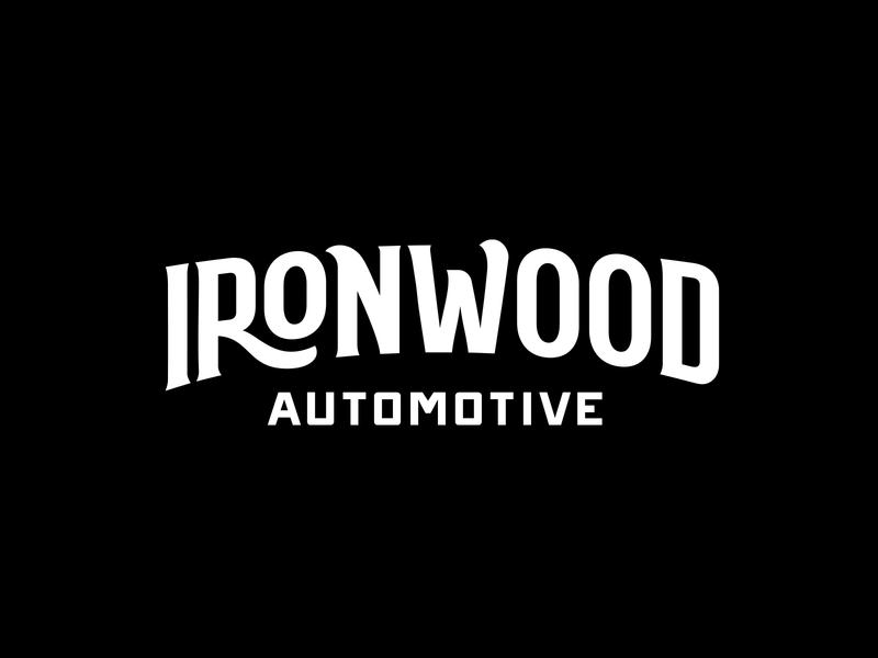 Ironwood Automotive Logo Design identity logomark ironwood lettering brandidentity branding logo logotype retro vintage autoshop shop mechanic automotive