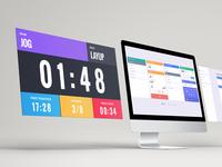 Sports scoreboard and statboard UI/UX design wrestling volleyball statboard scoreboard flat design
