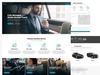 Chauffeur Service Website Design responsive flat design rent car car service chauffeur