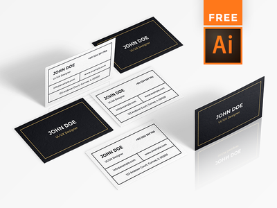 IT professional Business card [ FREE Download ] free download adobe illustrator ai freebie free business cards