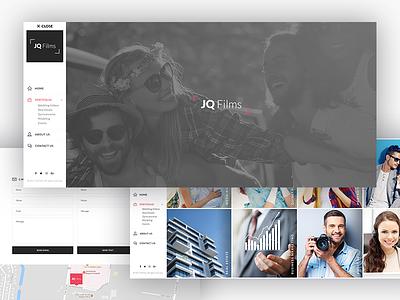 JQ Films web design flat design responsive