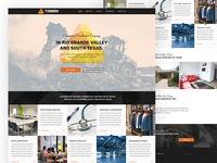 Website redesign for commercial construction company.