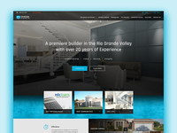 Website redesign for homes construction company.