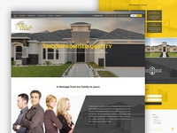 Webdesign for villa homes