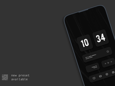 Mono for KLWP 1.1.0 design customize kwgt klwp customization android widgets
