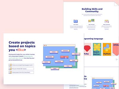 Daily Ui #003 - Landing page branding code webdesign 80s style illustration dailyui