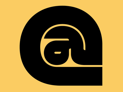At sign lettermark letters typeface typo @ logo design logos logodesign logotype logo typogaphy lettering graphic custom lettering custom letters typography type letter design typedesign