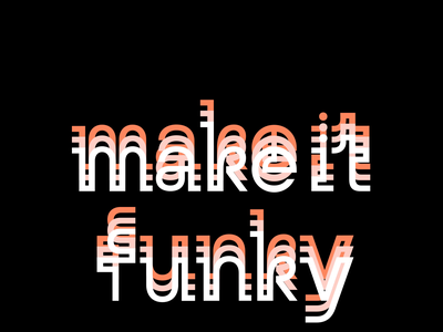 Make it funky! logos logotype logo typrograpgy logo typogaphy typeface typo font design fonts font letters lettering graphic custom lettering custom letters typography type letter design typedesign