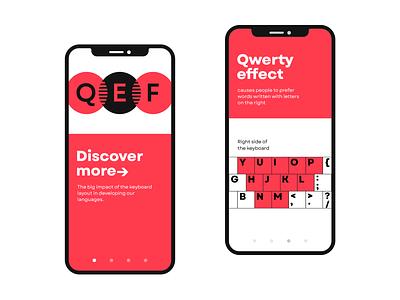Qwerty effect vector typogaphy font type design uiux ux ui type letter design typedesign