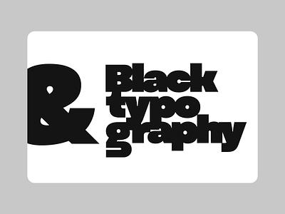 Black Typography letters graphic typedesigner typeface font typography letter type design typedesign