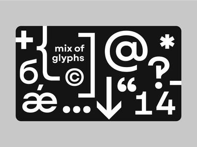 Mix of glyphs typeface font letters graphic custom letters typography letter type design typedesign