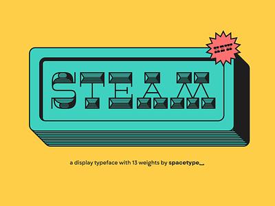 Оur latest typeface – Steam! custom lettering custom letters typography letter type design typedesign