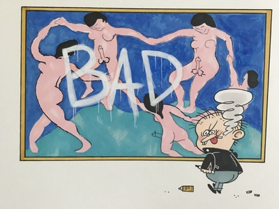 Bad Boy fine art prismacolor copic comics logo illustration design