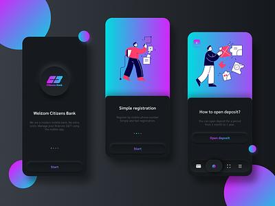 Citizen Bank mobile app mobile webdesign ui ux redesign bank minimalism minimal design application