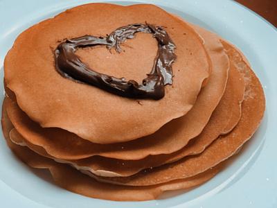 LoveIsInTheAir girlfriend food plate pancakes love